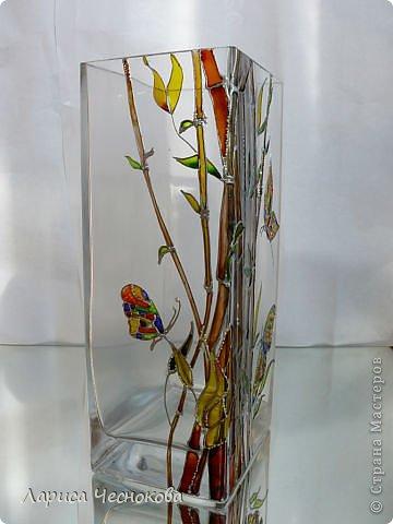 getimage_6 Вазы из стеклянных бутылок: декор, роспись и обрезка