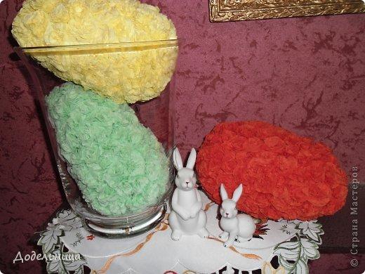 Пасхальные яйца из салфетных цветов. фото 3