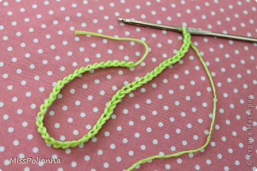 Закладка Мастер-класс Начало учебного года Вязание крючком Вязаная закладка-цветок тюльпан Нитки фото 2