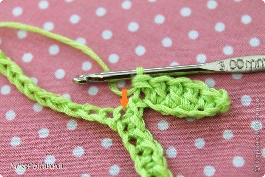 Закладка Мастер-класс Начало учебного года Вязание крючком Вязаная закладка-цветок тюльпан Нитки фото 5