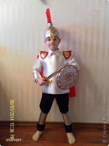 Костюм рыцаря своими руками из подручных