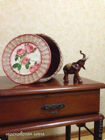 Привет, всем жителям Страны. Сегодня у меня будет небольшой пост о корзинке и слоне. Фото не очень, т.к. были сделаны ночью на телефон. фото 1