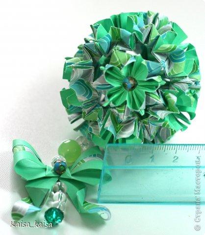 Привет всем-всем! Была у меня чудесная бумажка+ весенне настроение=...  Name: Suzaku Designer: Mio Tsugawa Units: 30 Paper: 3.75*7.5 cm (1:2) Final height: ~ 3.5 cm Joint: with glue фото 3