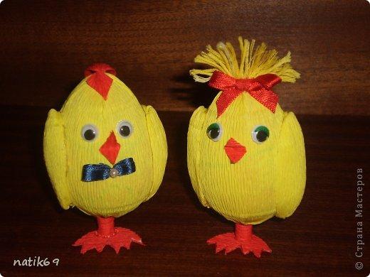 Поделки цыплят из картона