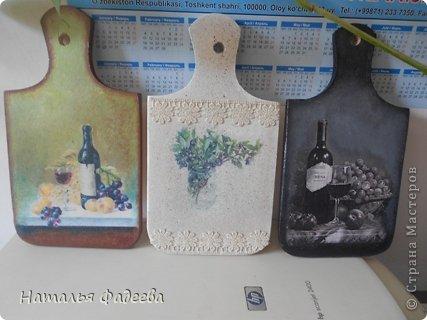 Кухонные досочки. Декупаж и подрисовка акриловыми красками. фото 1
