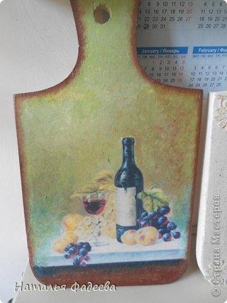 Кухонные досочки. Декупаж и подрисовка акриловыми красками. фото 2