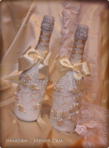 """Всем привет! Всех с Весной! Мои свадебные новинки... На этом наборе , по большому секрету, """"подгоревшие"""" розочки, но цвет получился очень красивым , с плавным переходом )) Вот и созрел такой вот набор в модном сейчас цвете айвори, а может беж, а может крем-брюле (какие слова-то """"гламурные""""))) фото 5"""