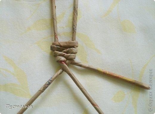 Поделка изделие Плетение Тараканище Бумага газетная Трубочки бумажные фото 3