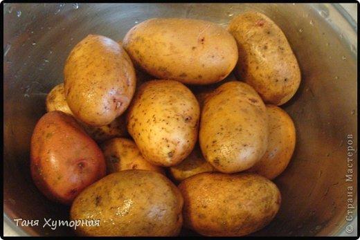 Необычный способ приготовления картошки. Картофель получается вкусный и очень похож на печённый на костре. фото 2