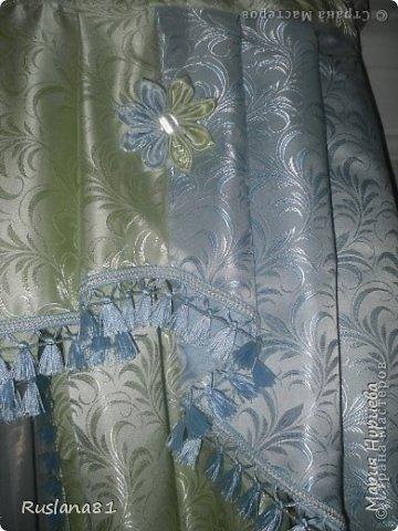 Сделали ремонт и решили поменять шторы.В магазине не менее 15т.р. цена и я решила сшить  сама.Ткань вышла на 1200р.,а бахрома 600р.  фото 2