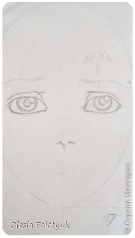 Помимо того, что делать кукол я ещё иногда рисую. В основном девушек: портреты, наряды и фигуры в движении. Вот как получается. Училась сама.  фото 11