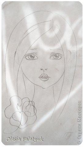 Помимо того, что делать кукол я ещё иногда рисую. В основном девушек: портреты, наряды и фигуры в движении. Вот как получается. Училась сама.  фото 14