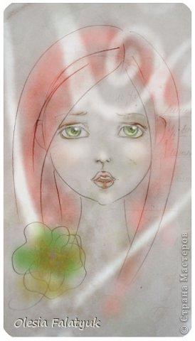 Помимо того, что делать кукол я ещё иногда рисую. В основном девушек: портреты, наряды и фигуры в движении. Вот как получается. Училась сама.  фото 15