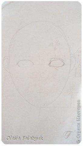 Помимо того, что делать кукол я ещё иногда рисую. В основном девушек: портреты, наряды и фигуры в движении. Вот как получается. Училась сама.  фото 3