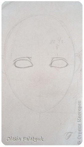 Помимо того, что делать кукол я ещё иногда рисую. В основном девушек: портреты, наряды и фигуры в движении. Вот как получается. Училась сама.  фото 5