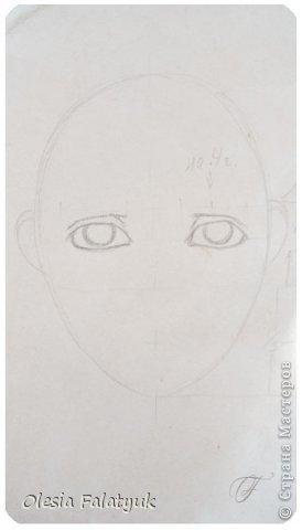 Помимо того, что делать кукол я ещё иногда рисую. В основном девушек: портреты, наряды и фигуры в движении. Вот как получается. Училась сама.  фото 6
