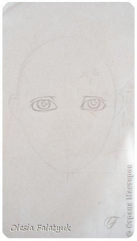 Помимо того, что делать кукол я ещё иногда рисую. В основном девушек: портреты, наряды и фигуры в движении. Вот как получается. Училась сама.  фото 7