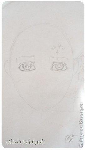 Помимо того, что делать кукол я ещё иногда рисую. В основном девушек: портреты, наряды и фигуры в движении. Вот как получается. Училась сама.  фото 8