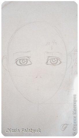 Помимо того, что делать кукол я ещё иногда рисую. В основном девушек: портреты, наряды и фигуры в движении. Вот как получается. Училась сама.  фото 9