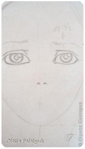 Помимо того, что делать кукол я ещё иногда рисую. В основном девушек: портреты, наряды и фигуры в движении. Вот как получается. Училась сама.  фото 10