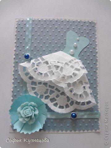 Вот такие открытки у меня получились, в первый раз попробовала сделать сама цветы. фото 4