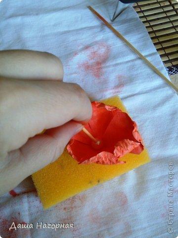 Мастер-класс Поделка изделие Бумагопластика Плетение мк по розам из акварельной бумаги Акварель Бумага газетная Клей фото 18