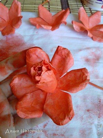 Мастер-класс Поделка изделие Бумагопластика Плетение мк по розам из акварельной бумаги Акварель Бумага газетная Клей фото 31