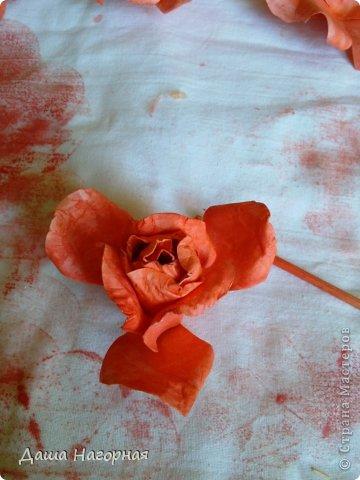 Мастер-класс Поделка изделие Бумагопластика Плетение мк по розам из акварельной бумаги Акварель Бумага газетная Клей фото 33