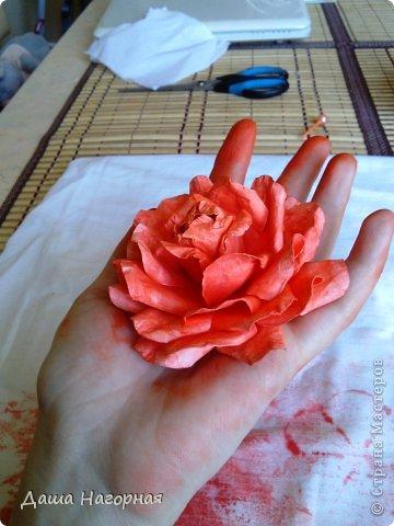 Мастер-класс Поделка изделие Бумагопластика Плетение мк по розам из акварельной бумаги Акварель Бумага газетная Клей фото 34