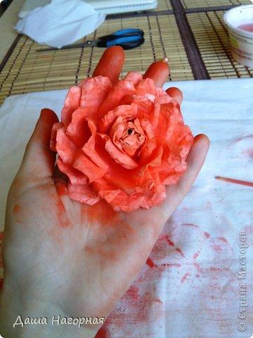Мастер-класс Поделка изделие Бумагопластика Плетение мк по розам из акварельной бумаги Акварель Бумага газетная Клей фото 35