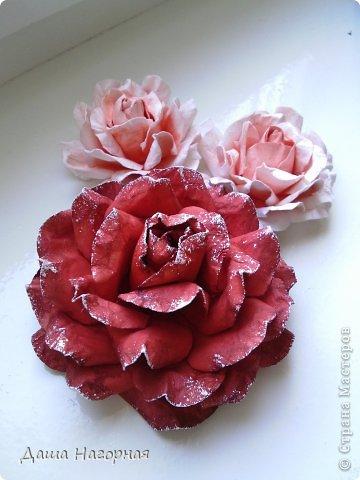 Мастер-класс Поделка изделие Бумагопластика Плетение мк по розам из акварельной бумаги Акварель Бумага газетная Клей фото 36