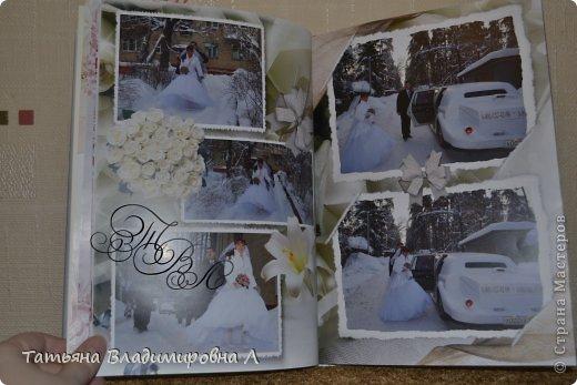 """Мария, как и обещала, выкладываю фотографии своих фотокниг.  Фотографий будет много ))))) Дизайн и обработку фотографий делала сама, в специальных программах. Это первая книга """"Свадебная"""" фото 5"""