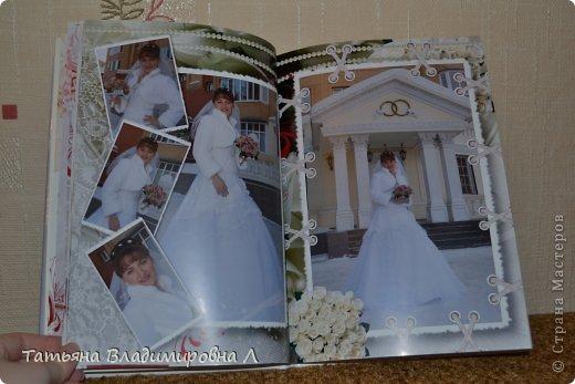 """Мария, как и обещала, выкладываю фотографии своих фотокниг.  Фотографий будет много ))))) Дизайн и обработку фотографий делала сама, в специальных программах. Это первая книга """"Свадебная"""" фото 6"""