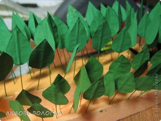 Мастер-класс Свит-дизайн Моделирование конструирование Делаем листочки для роз Проволока Скотч фото 9