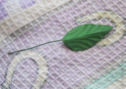Мастер-класс Свит-дизайн Моделирование конструирование Делаем листочки для роз Проволока Скотч фото 16