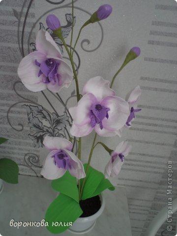 Мастер-класс Поделка изделие Моделирование конструирование цветок орхидеи из фома и как придать структуру листку без молда м к Фоамиран фом фото 33