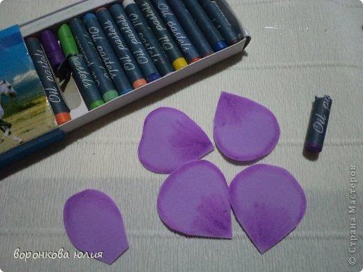 Мастер-класс Поделка изделие Моделирование конструирование цветок орхидеи из фома и как придать структуру листку без молда м к Фоамиран фом фото 5