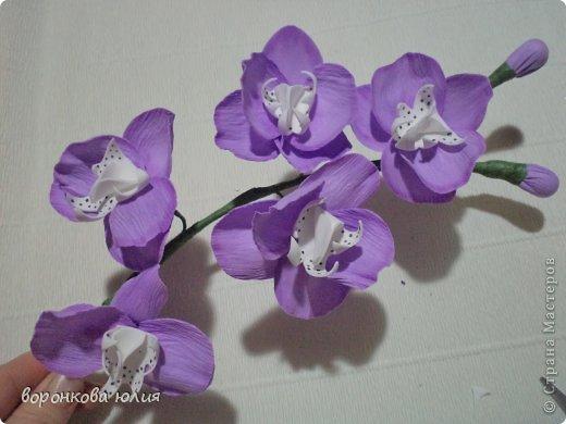 Мастер-класс Поделка изделие Моделирование конструирование цветок орхидеи из фома и как придать структуру листку без молда м к Фоамиран фом фото 1