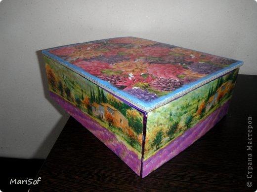 Здравствуйте! Сегодня я к вам с коробочками. В очередной раз решила перебрать весь хлам рукодельный, и вообще. Сделала 3 коробочки. фото 2