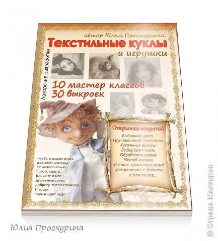 Моя первая авторская книга, посвящена изготовлению текстильных кукол и игрушек, по моим выкройкам и Мастер - Классам. Книга электронная, в формате PDF, объемом 160 стр, богато иллюстрирована более 150 рисунков и фото автора. фото 1