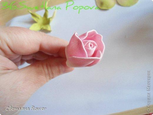 Моя  Роза из Фоамирана!!! фото 37