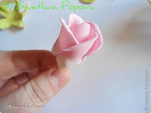 Поделка изделие Моделирование конструирование Моя Роза из Фоамирана  Фоамиран фом фото 38