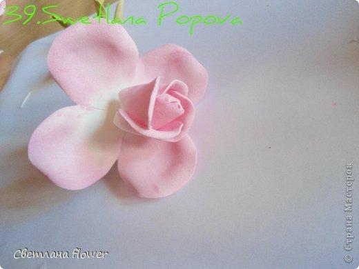 Поделка изделие Моделирование конструирование Моя Роза из Фоамирана  Фоамиран фом фото 40