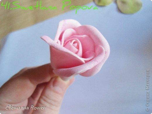 Поделка изделие Моделирование конструирование Моя Роза из Фоамирана  Фоамиран фом фото 42