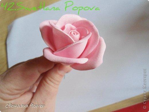 Поделка изделие Моделирование конструирование Моя Роза из Фоамирана  Фоамиран фом фото 43