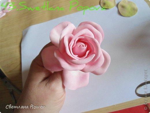 Поделка изделие Моделирование конструирование Моя Роза из Фоамирана  Фоамиран фом фото 44