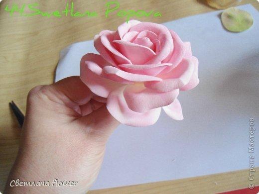 Поделка изделие Моделирование конструирование Моя Роза из Фоамирана  Фоамиран фом фото 45
