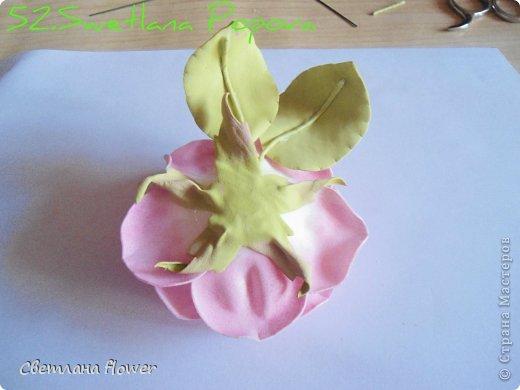 Поделка изделие Моделирование конструирование Моя Роза из Фоамирана  Фоамиран фом фото 53
