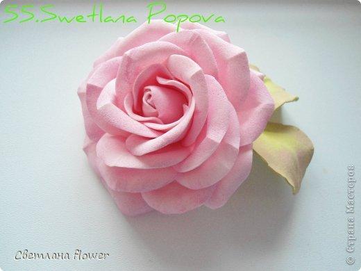 Моя  Роза из Фоамирана!!! фото 56