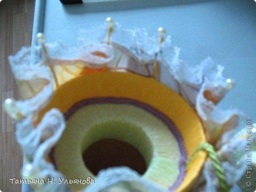 Мастер-класс Свит-дизайн Моделирование конструирование МК зонтик-шкатулка Бумага гофрированная Бусины Картон Клей Кружево Пенопласт Проволока Продукты пищевые Сутаж тесьма шнур Ткань фото 13
